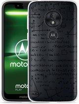 Moto G7 Play Hoesje Wiskunde zwart