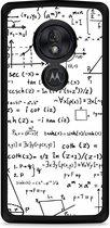 Motorola Moto G7 Play Hardcase hoesje Wiskunde zwart