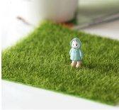 Miniatuur gras voor poppenhuis tuin of treinbaan - 4 stuks