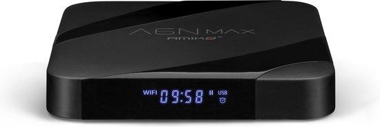 Amiko A6N Max   Tv ontvanger I Topmodel 4K Android en IPTV mediabox