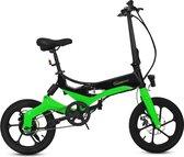 SachsenRad E-Folding Bike / Elektrische vouwfiets R7, 250 W, 16-inch, groen
