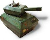 Suck UK Kat Schouwburg Karton Tank Groen