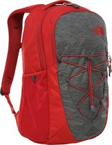The North Face Jester Rugzak TNF Dark Grey Heather/ Cardinal Red