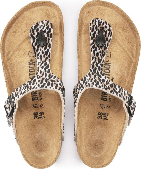 Birkenstock Gizeh Textile Leo Lilly Brown Regular Teenslippers Dames – Maat 40 4MBHrR