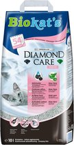 Diamond Care Fresh met geur - fijne kattenbakgrit/kattenbakvulling met actieve kool en aloë vera - 1 zak