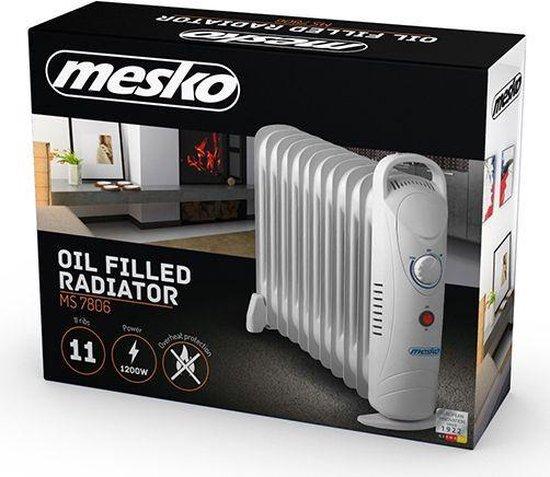 Mesko MS7806 Binnen Wit 1200W Elektrische ruimteverwarming op olie electrische verwarming