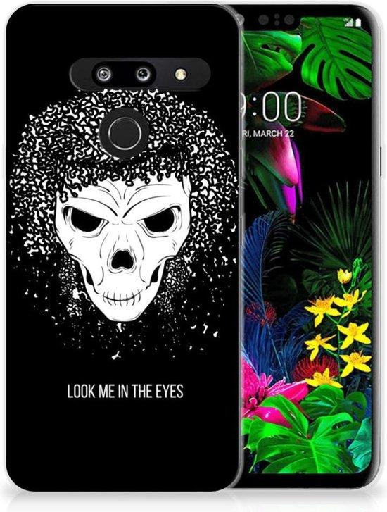 Silicone Back Case LG G8 Thinq Skull Hair