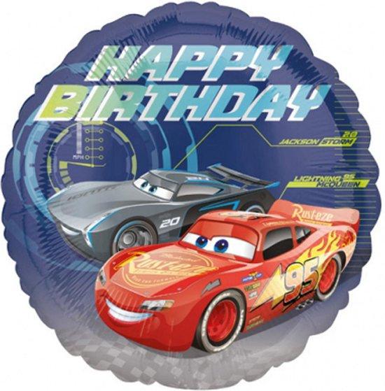 AMSCAN - Happy Birthday Cars 3 folie ballon - Decoratie > Ballonnen
