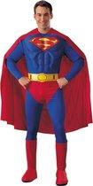 Superman Deluxe Muscle - Carnavalskleding - Maat L - Rood