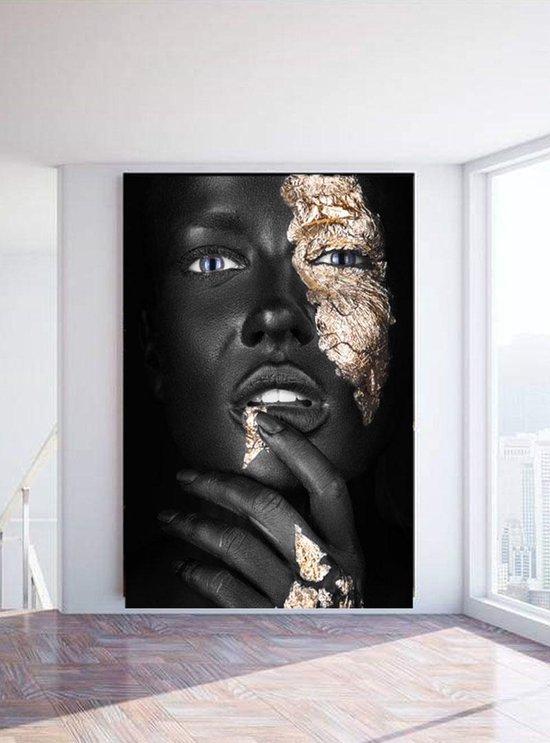 Bol Com Luxe Wanddecoratie Fotokunst Noir Gold Finger Hoogste Kwaliteit 3mm Plexiglas Met