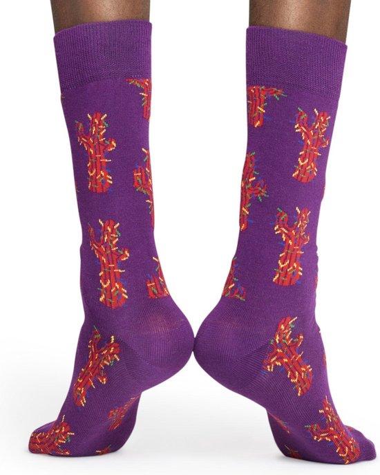 Happy Socks Cactus Sokken - Paars/Rood - Maat 41-46