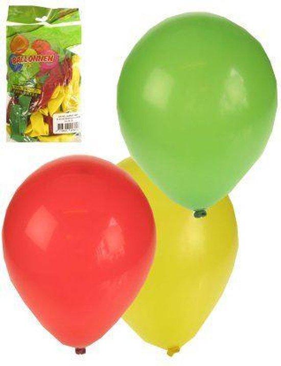 Ballonnen 50 stuks rood/geel/groen