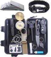 16 in 1 Multitool Ultimate Survival Kit | Outdoor Camping Backpacking Emergency Survival Kit XXL | SOS EDC Multifunctionele Box