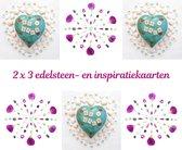 Edelsteen- en inspiratiekaarten | 6 stuks | 14,7 x 14,7 cm | set 6