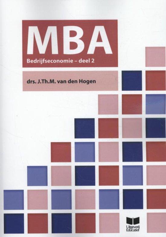 MBA Bedrijfseconomie 2 - J. Th.M. van den Hogen | Fthsonline.com