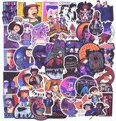 Sticker mix Stranger Things - 50 stuks - voor laptop, muur, raam etc.