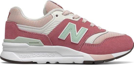 New Balance 997 Sneaker Junior Sneakers - Maat 35 - Meisjes - Roze/wit/groen
