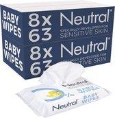 Neutral 0% Baby Billendoekjes 16 x 63 stuks - 1008