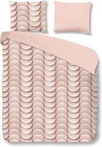 Good Morning 5413-A met grafische print - dekbedovertrek - lits jumeaux - 240x200/220 cm  - katoen - roze