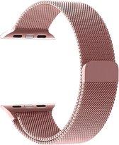 Apple Watch Stainless Steel Horloge Band 38/40 MM Voor Apple Watch Series 1/2/3/4/5 - Watchband Voor iWatch - Armband Roestvrij Staal-Stainless Steel Bandje / Milanese Loop Band 38/40mm Rosé Goud
