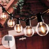 Solar prikkabel Chain met 25 warm witte led filament lampen