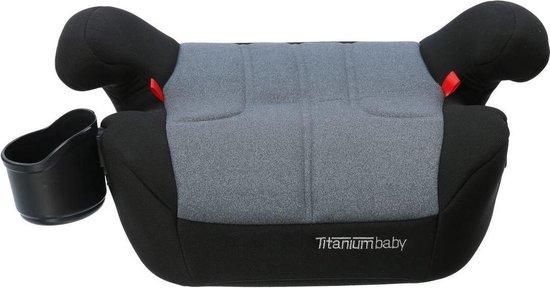 Product: Titaniumbaby iSafety! Booster Zitverhoger - Groep 3 - Isofix - Zwart/Grijs, van het merk Titanium Baby