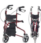 Drive Devilbiss inklapbare driewiel rollator - rood