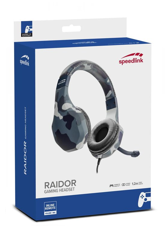 Speedlink Raidor - Stereo Gaming Headset - PS4 - Blauw