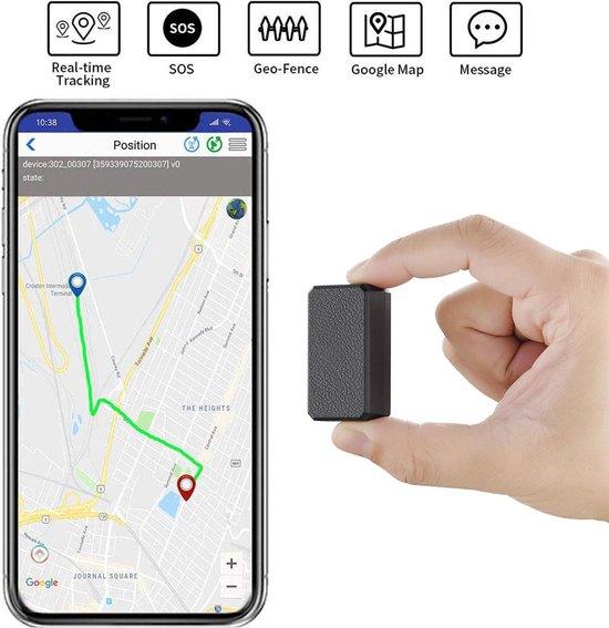 Winnes Mini GPS Tracker voor kinderen Ouderen Portemonnee GSM GPS Real Time Outdoor Anti Verloren GPS Tracker Locator Met App voor IOS en Android - Zwart