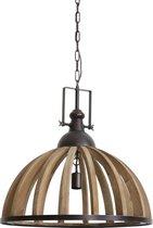 Light & Living Hanglamp DJEM - hout kop zink - L