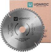 VONROC Zaagblad – Ø216MM – 60 tanden – voor hout – geschikt voor afkortzagen & tafelzagen