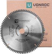 VONROC Zaagblad – Ø254MM – 80 tanden – voor hout – geschikt voor afkortzagen & tafelzagen