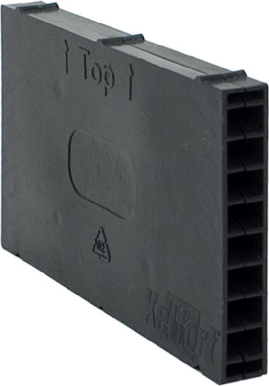 Stootvoegvent.rooster zwart 5 cm  (Prijs per 20 stuks)