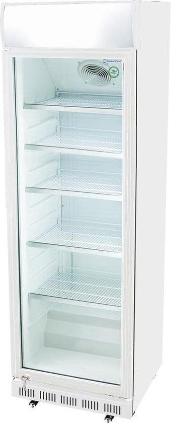 Koelkast: Gastro-Cool DC400 - Koelkast met glazen deur 360 Liter - Wit/Wit/Wit 114501, van het merk Gastro-Cool