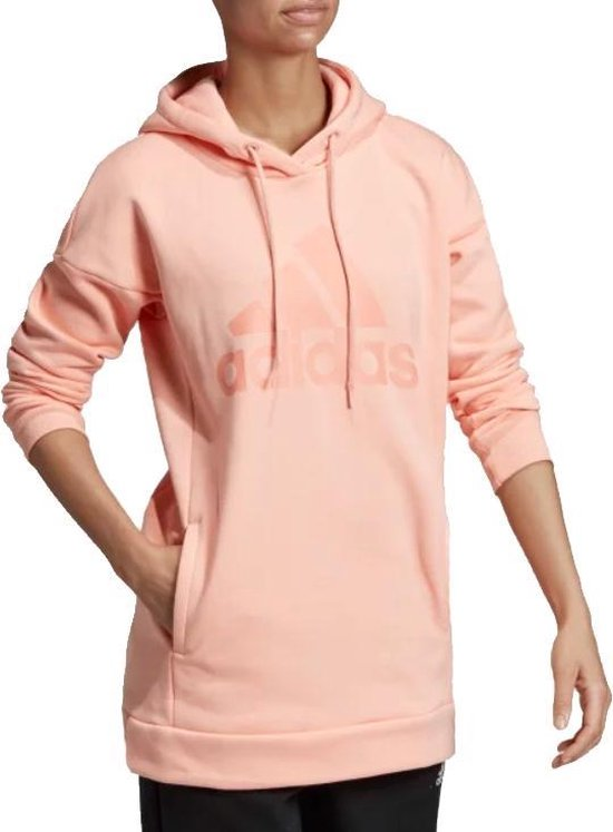 adidas Must Haves Badge of Sport Logo Hoodie DX7964 Vrouwen Roze Sporttrui casual...
