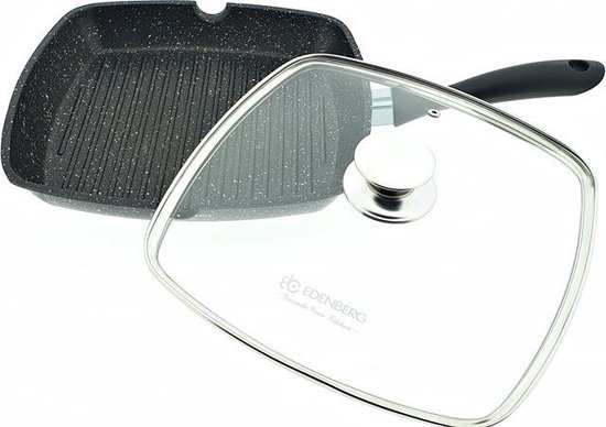 Edënbërg Stonetec Line - Luxe Inductie Grillpan - Hapjespan - 28x28 cm