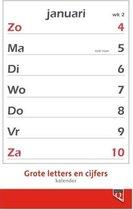 Kalender 2021 Quantore met grote letters en cijfers