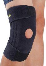 Bracoo KB30 Kniebrace - siliconen gel patella ondersteuning - verwijderbare veerstabilisatie -  brede sleeve ideaal voor gewrichtsdrukvermindering & rehabilitatie