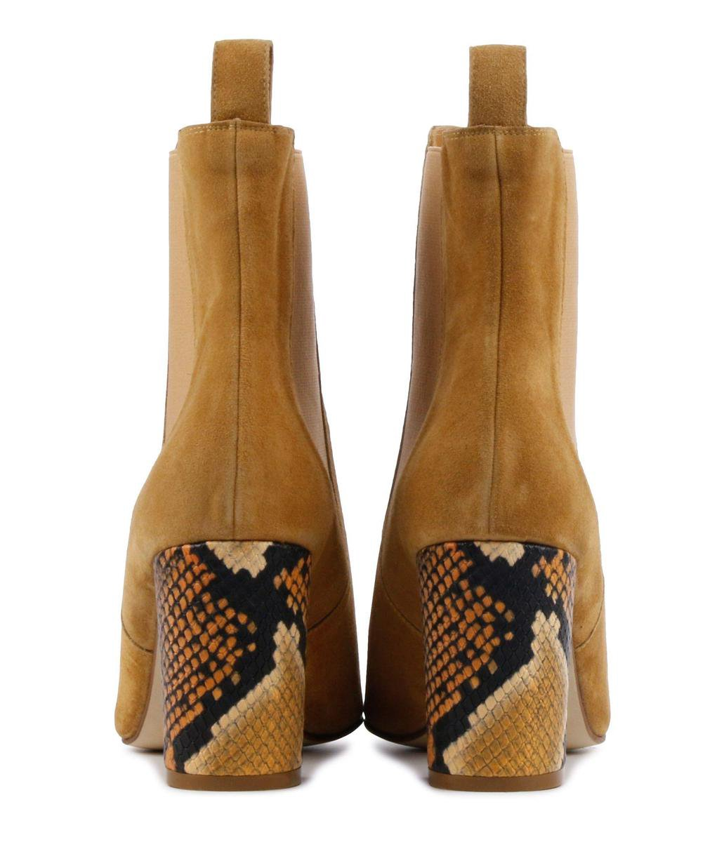 Pertini Vrouwen Enkellaarsjes -  17089 - Camel - Maat 36 Enkellaarsjes