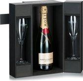 Moët & Chandon Brut Impérial Champagne  - 1 x 75 cl - in luxe koffer met 2 glazen