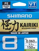 Shimano Kairiki 8 150m Mantis Green 0.130mm/8.2kg