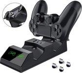 PS4 Duo Lader Docking Station Playstation oplaadstation - Dualshock Controller - Draadloos met Magnetische Plug