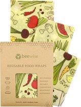 Bijenwas Doek   Beeswax Wrap   3 pack combinatie (S/M/L)   Herbruikbaar   Bio Pattern