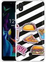 LG K20 Hoesje Love Fast Food