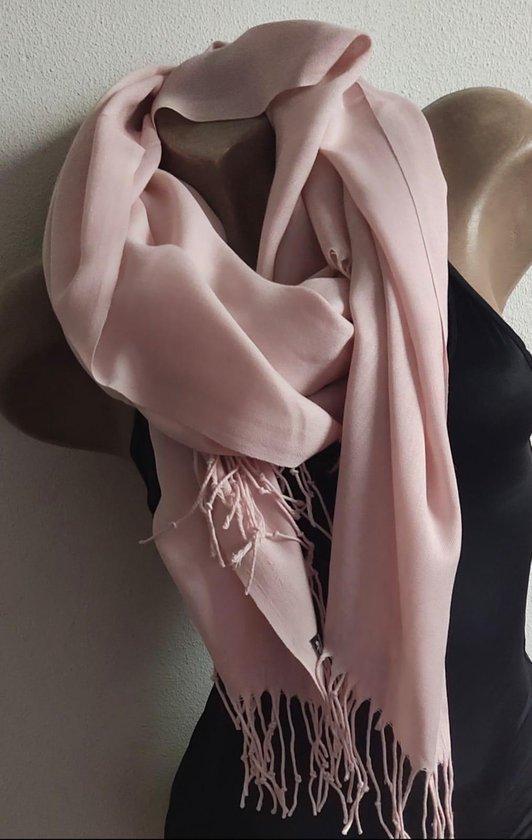 Dames effen kleur sjaal baby roze