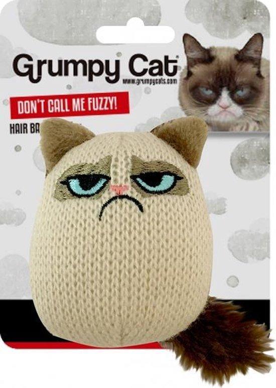 Grumpy Cat Gebreide Kreukel Zak Kicker Speeltje voor Katten - Interactief Kattenspeelgoed met Catnip Kattenkruid - Kitten Speeltjes