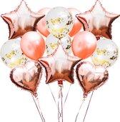 30 st.   Ballonnen   Verjaardag   Verjaardag Versiering   Goud   Rosé   Confetti   Helium   Feest