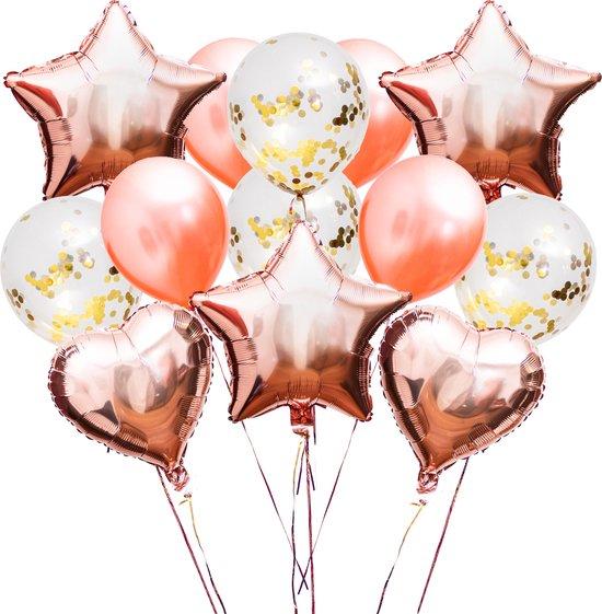 30 st. | Ballonnen | Verjaardag | Verjaardag Versiering | Goud | Rosé | Confetti | Helium | Feest