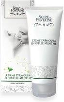 Crème d'Amour Sensuelle Menthe 200ml - stimulerende crème - lustopwekkend - waterbasis - massage - intieme delen - likbaar - munt
