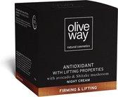 Oliveway Anti-rimpel en verstevigende nachtcrème met biologische olijfolie en hyaluronzuur - 50 ml